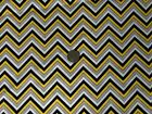 Ink Blossom Fabric Chevron Yellow Black Oop Quilt Shop Quality Cotton