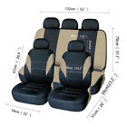 Car Seat Cover Full Set Front Rear Headrest Auto Protector For Car Truck Suv Van