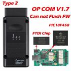 For Opel Obd2 Auto Diagnostic Tool Opcom Can Bus V1.7 Can Be Flash Error Update
