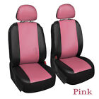 4pcs Universal Pu Leather Car Seat Covers Front Protector For Car Truck Suv Van