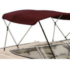 3 Bow Boat Bimini Top Boat Cover Set With Boot And Rear Support Poles