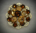 Crystal Berry Concho Handcrafted With Shades Of Brown Swarovski Elements
