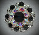 Crystal Berry Concho Handcrafted With Black Ab Swarovski Elements