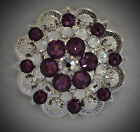 Berry Concho Handcrafted With Purple And Clear Swarovski Elements