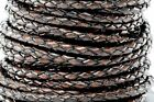Genuine Round Bolo Braided Leather Cord 3 Mm 18 Diy Craft Jewelry Supplies