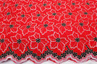 Floral Voile Design Blended Cotton Embroidery African Lace Fabric In 10 Color