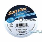 100 Ft Soft Flex Beading Stringing Craft Wire Finemediumheavy Satin Silver