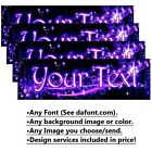 Custom Bumper Sticker 3 X 9 Custom Personalized Design Outdoor Pro-grade Vinyl.