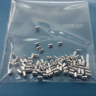 100pc Solid Sterling Silver Tube End Crimp Beads Spacers Choose Size