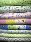 Flannel 100 Cotton Fabric Nursery Baby Children Whales Giraffe Fq Half Yard Bty