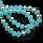 Bulk 312mm Glass Crystal Rondelle Faceted Loose Spacer Beads Jewelry Making