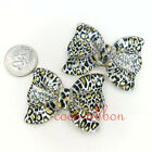 55mm 4pc Jumbo Large Cheetch Zebra Bows Flatback Resin Cabochons - U Pick Style