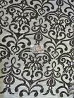 Unique Vintage Damask Sequins Fabric By The Yard Diy Bridal Dress Free Shipping