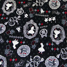 Japanese Quilting Cotton Fabric Retro Vintage Alice In Wonderland By 12 Yard