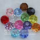 50pcs 12mm 32 Faceted Acrylic Clear Round Bead Plastic Loose Spacer Beads Charms