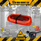 240 Led Light Bar Magnetic Roof Top Emergency Strobe 10ft Dual Rapid Switch