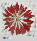 Broken China Mosaic Tiles Daisy Rose Aster Flower Size Color Variations 3