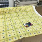 Yellow W Green White Plaid Check Blue Flower Drapery Fabric By The Yard 54w