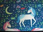 Cotton Flannel Fabric Nursery Baby Horses Zebras Unicorns Rainbow Fq Half Yd Bty