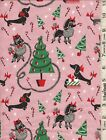 Christmas Canine Dogs Presents Candy Canes By Michael Miller Sold Separately Bty