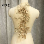 3d Flower Embroidery Lace Bridal Applique Beaded Pearl Diy Tulle Wedding Dress