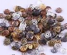 500pcs Silvergoldblackbronze Metal Flower Bead Caps 6mm Jewelry Findings