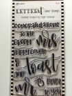 Ranger Letter It Clear Stamp Set 4x6- Multiple Greetings Stamps You Choose New