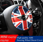 Union Jack Steering Wheel Abs Decor Cover For Mini Cooper Clubman Countryman