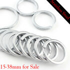 1538mm Stainless Steel Strong Solid Split Ring Flat Key Ring Key Hol