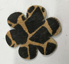 Leather Flower 6 Petals 3 12 100 Cowhide Die Cut For Crafts 3 Pieces