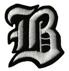 Custom Embroidered 2 Old English Scroll Font Felt Iron On Letter Patches Patch