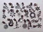 Let It Snow Winter Fun 20 Pc. Charms Gloves Scarf Holly Snowmanflakes Skier