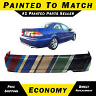 New Painted To Match Rear Bumper Replacement For 1999-2000 Honda Civic 4dr Coupe