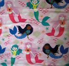 Cotton Flannel Fabric Baby Animals Dogs Cats Mermaids Dragons Horses Fq Hy Bty