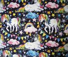 Cotton Flannel Fabric Unicorns Dogs Cats Mermaid Dragon Horses Rainbow Fq Hy Bty