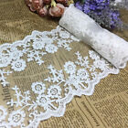 Embroidered Tulle Mesh Lace Trim Ribbon Wedding Double Edge 4.511.5cm Wide 1y