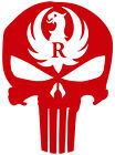Ruger Punisher Skull Body Decal Window Bumper Sticker 3 Sizes Lcp 9 Mpr Sr22