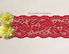 Red Lace Trim Stretch Lot 1020 Yds X 2 Galloon Closeout N99y Us Made
