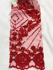 Designer Hand Made Heavy Beaded Embroidery Fabric Fashion Bridal Lace 697