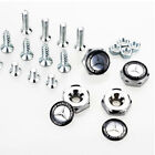 4x Car License Plate Frame Security Screw Bolt Caps Covers For Mercedes Benz