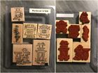 Stampin Up Stamps Retired Wood Blocks Complete Sets. Large 3. Free Shipping