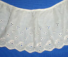 Eyelet Fabric Lace Trim White Ivory Pink Peach 88x Buy Any 3 Trims Get 1 Free