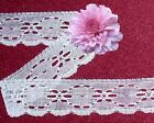 Eyelet Fabric Lace Trim White Ivory Blue Peach Cream 88x Added Trims Shi