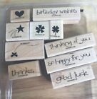 Stampin Up Wood Mounted Sets You -you Choose- Phrases Floral Shapes