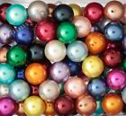 20mm Pearl Metallic Colorful Chunky Bubblegum Beads Round Acrylic Beads - Usa