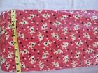 428 New Flannel Fabric Bty 2 Yds Select Size Dog Spots Red Paws Brown