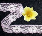 Lilac Cream Lace Trim 12 - 50 Yards X 1 Floral S16v Buy Any 3 Trims Get 1-free