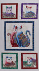 Benartex Fabric Cat I Tude Quilting Cotton By The Yard Or By Panel White