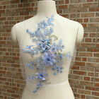 Flower Pearl Beads Embroidery Bridal Lace Applique Diy Wedding Party Dress Decor