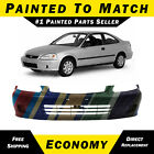 New Painted To Match - Front Bumper For 1999-2000 Honda Civic Sedan Hatch Coupe